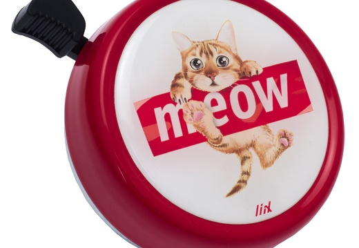 7242 Liix-Big-Colour-Bell-Meow-Red