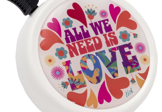 7287 Liix-Big-Colour-Bell-All-we-need-is-Love-White